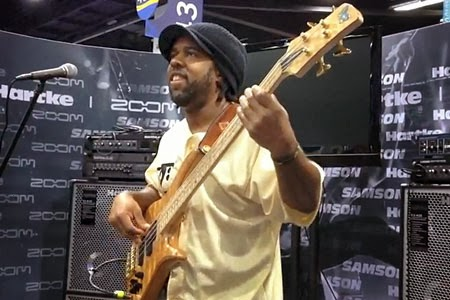 Victor Wooten performing at NAMM 2013 image