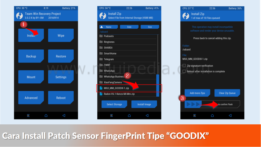 Cara Install Patch Sensor FingerPrint GOODIX