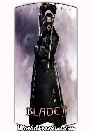 Poster Of Blade 2 In Dual Audio Hindi English 300MB Compressed Small Size Pc Movie Free Download Only At worldfree4u.com