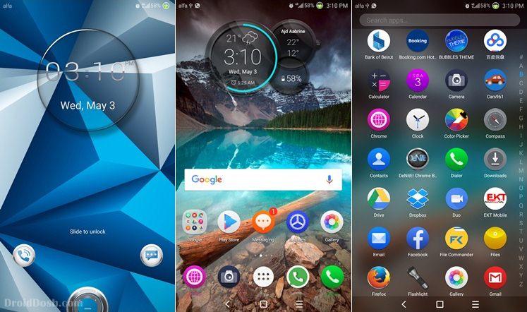 SKY BLUE v1 EMUI 5.0 Huawei Theme