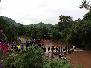 <b>Warga Soki Dikabarkan Hilang Terseret Banjir, Bupati Sempat Pantau Proses Pencarian</b>
