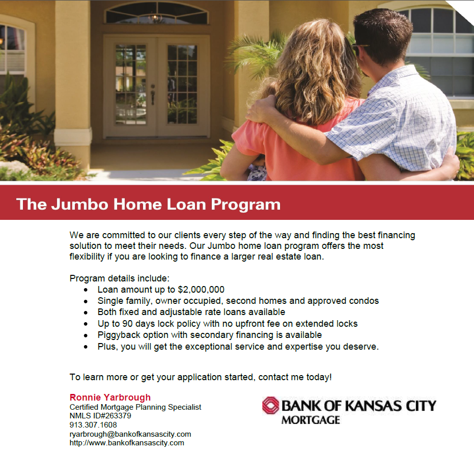 Jumbo Mortgage Loan in Kansas City