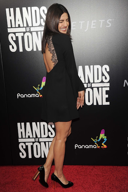 Priyanka Chopra Looks Super Sexy In Black Dress At 'Hands of Stone' US Premiere At SVA Theater in New York