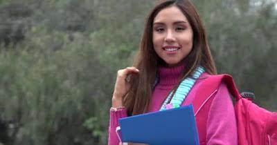 Hispanic female college student