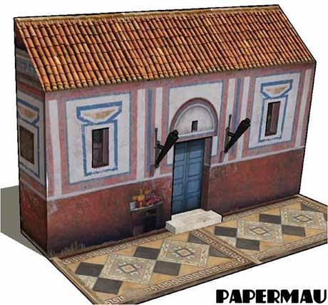 Paperized: Ancient House In Alexandria Paper Model
