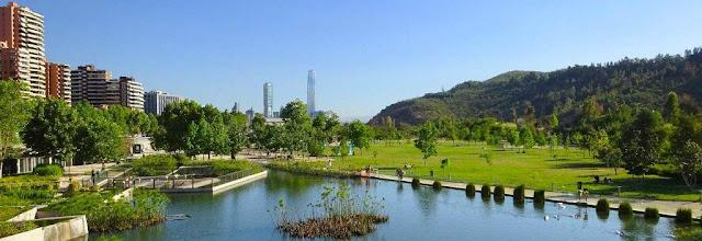 Bicentenario Park, Santiago, Chile.