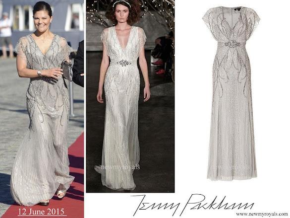 Crown Princess Victoria wore JENNY PACKHAM Dress