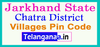 Chatra District Pin Codes in Jarkhand State