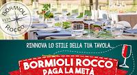 Logo Bormioli Rocco paga la metà : ricevi il cashback del 50% di quanto speso