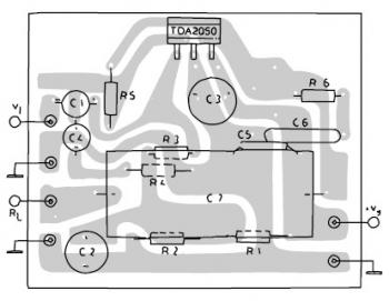 TDA2050 Amplifier PCB layout bridge