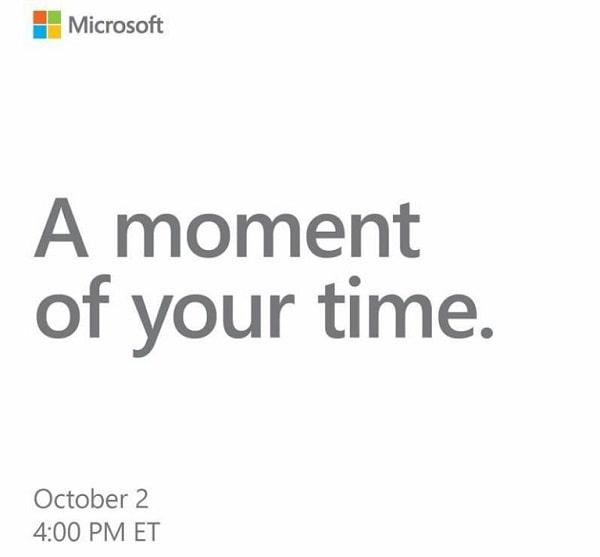 Microsoft announces October 2 event