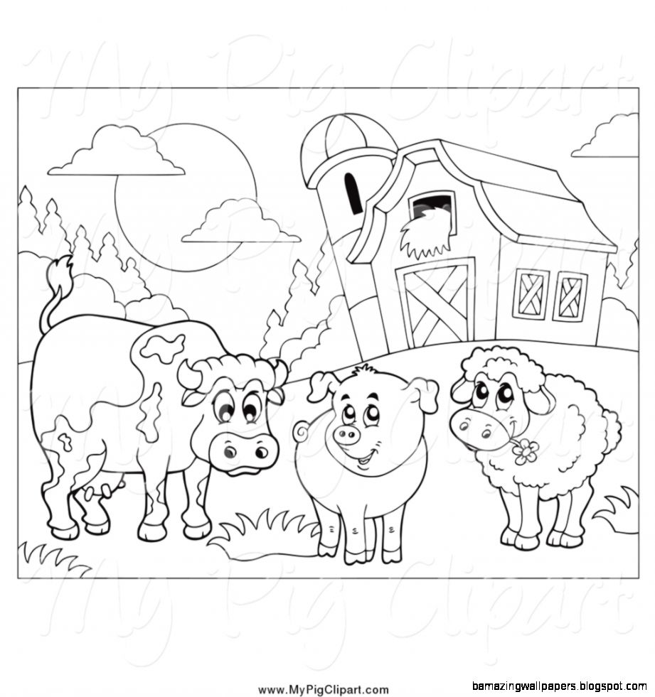 Farm Animals Black And White   Amazing Wallpapers