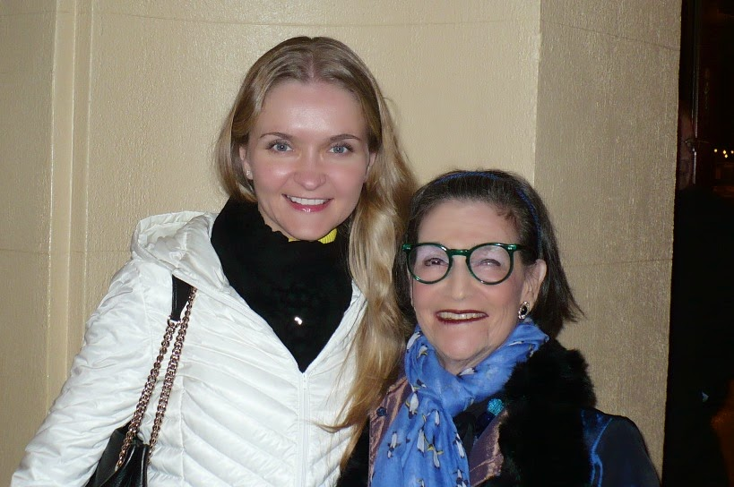 Karen with Russian pianist Anna Fateeva - Chicago, February 2014