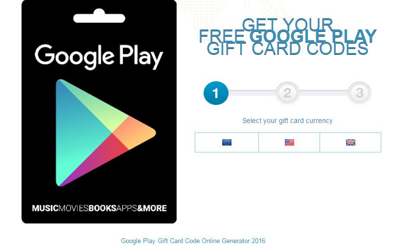 Free Play Store Codes 2016 No Survey