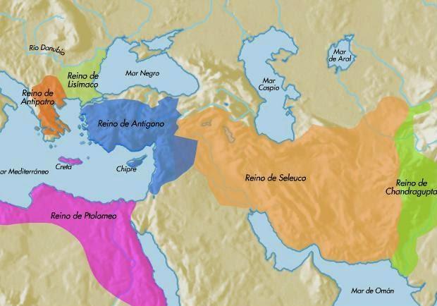 Resultado de imagen de mapa imperio de alejandro magno