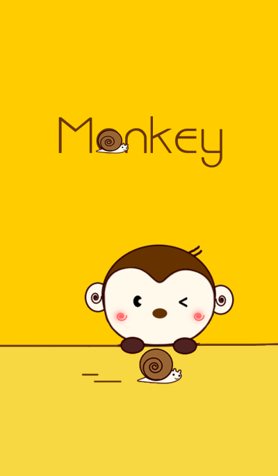 Monkey with Snail