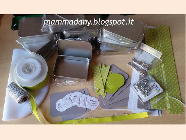 Materiali per confezionare Bomboniere Prima Comunione