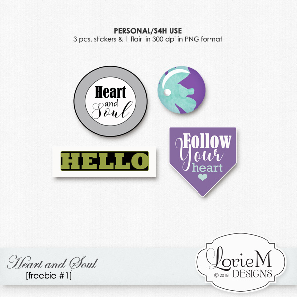 New Heart And Soul, $1.00 Each Pack, FWP + Freebie