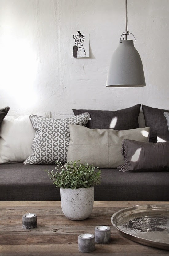 Decoramos con colores negro, gris y blanco