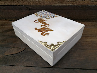 pudełeczko na obrączki dla Martyny i Wojtka