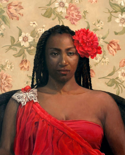 representational art, realism, portraiture, female portrait, African Queen, exotic