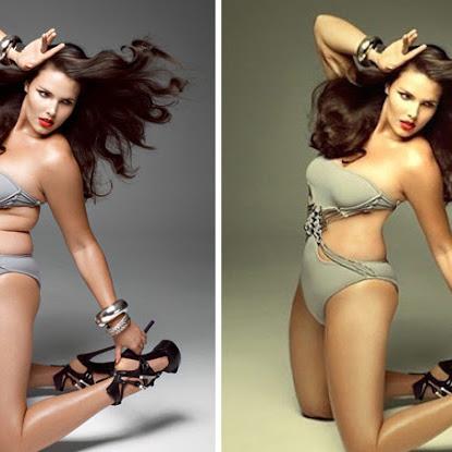 ► 21 celebridades antes e depois do Photoshop