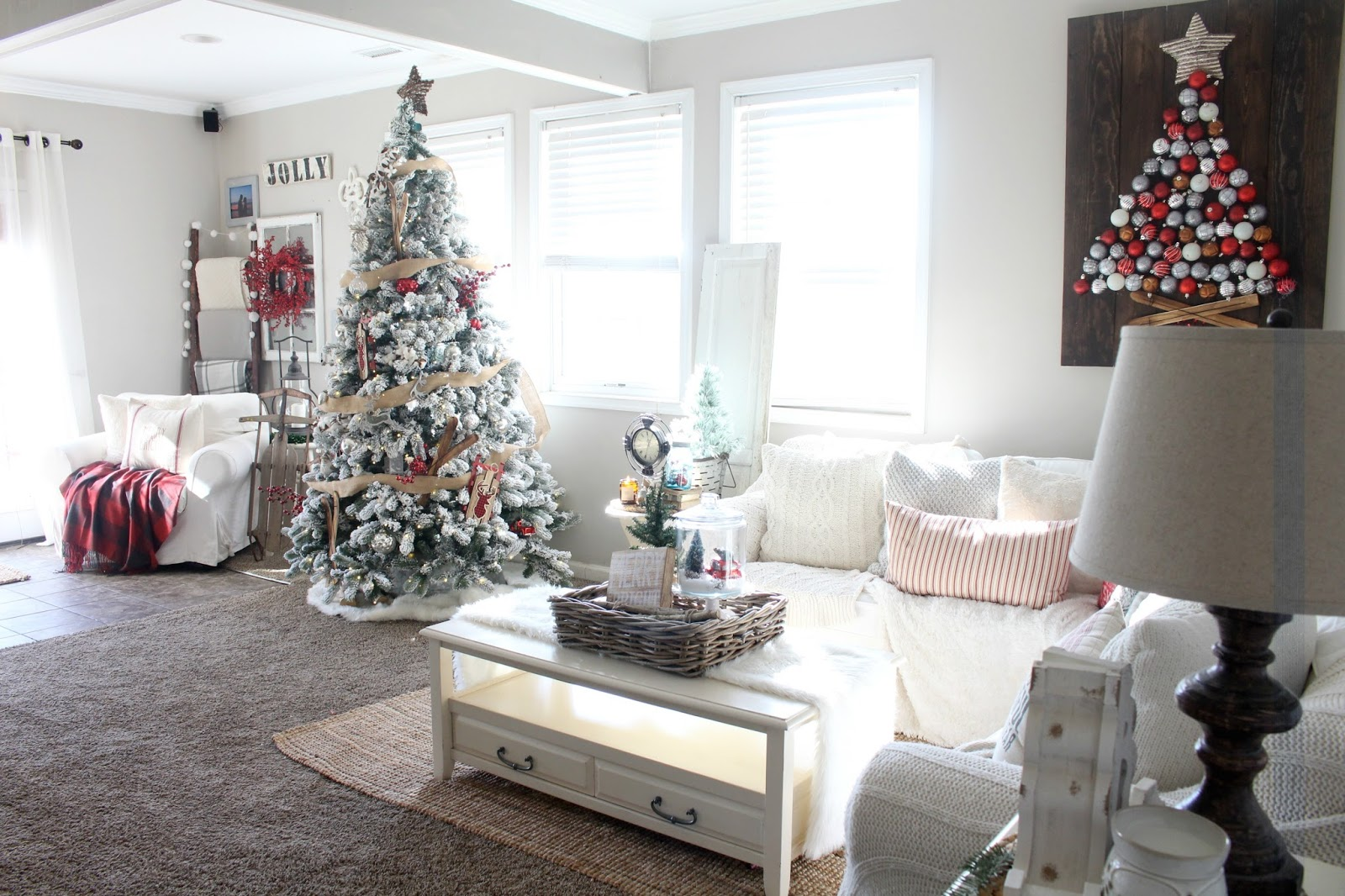 Rustic Glam Christmas Living Room Tour - The Glam Farmhouse