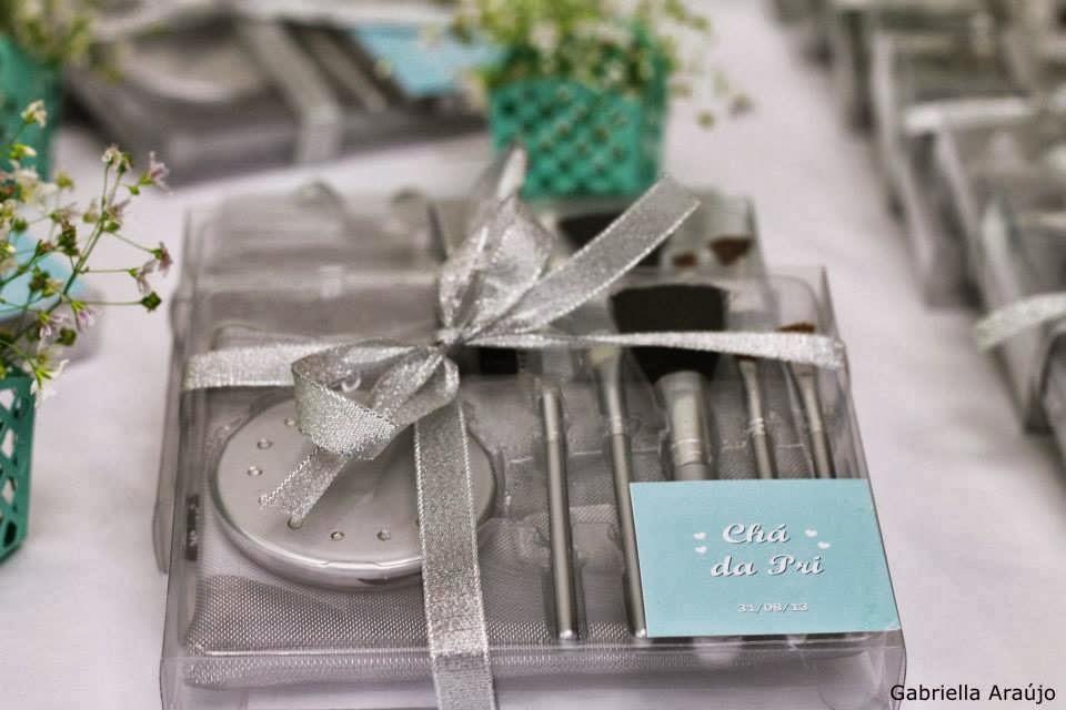 chá de panela - chá de lingerie - decoração azul tiffany