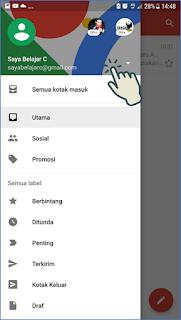 Cara masuk dan menambah akun Gmail di Android 3
