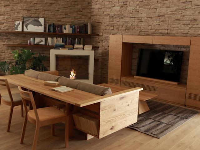 дизайнерский диван в гостинную - 3 фото