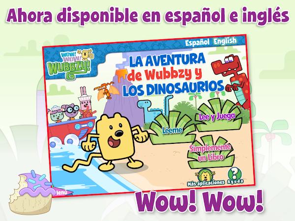 """""""La Aventura de Wubbzy y Los Dinosaurios App"""" Ahora disponible en Español e Inglés. #CupcakeDigital #BilingualApp #SpanishApp"""