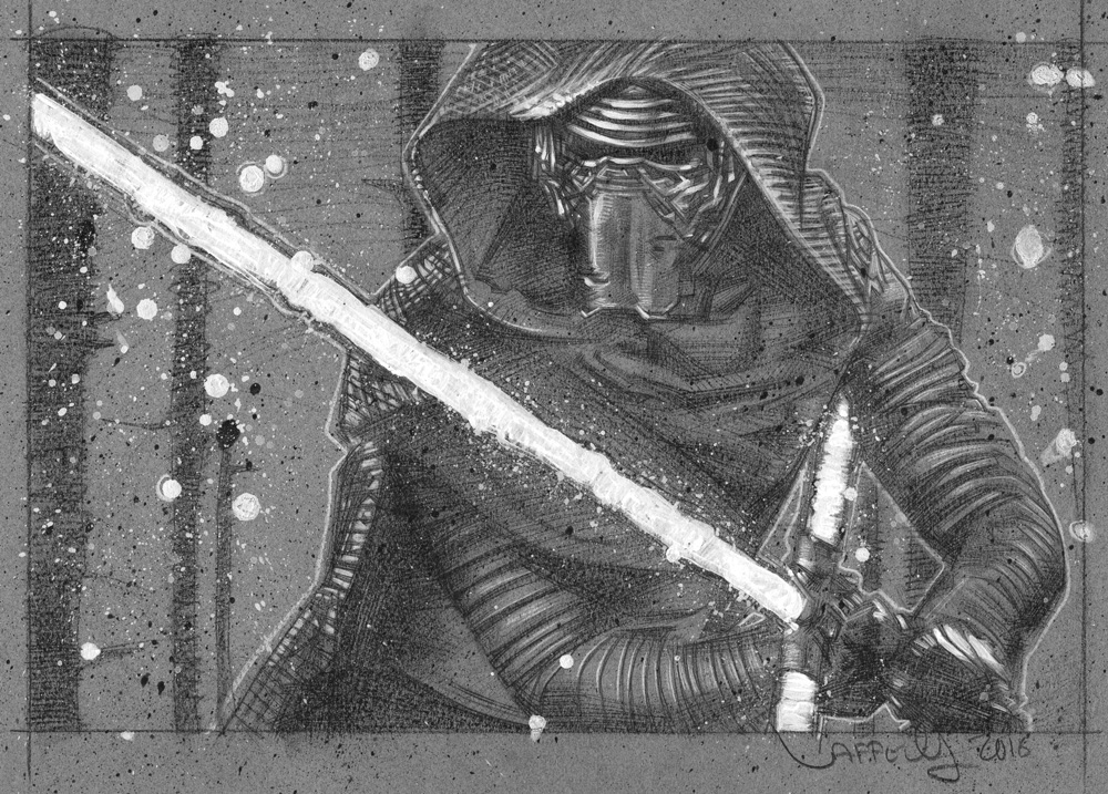 Kylo Ren Drawing © JEFF LAFFERTY 2016