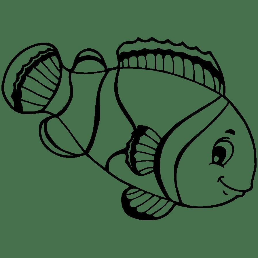 Gambar Ikan Untuk Di Warnai Wwwtollebildcom