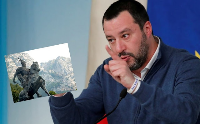 Matteo Salvini: We must beat George Soros as George Castriot Scanderbeg did with the Turks