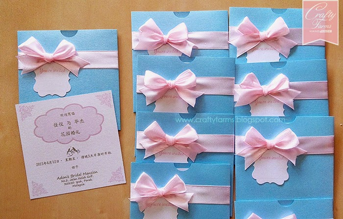 Turquoise And Pink Wedding Invitations: Crafty Farms Handmade : Pink And