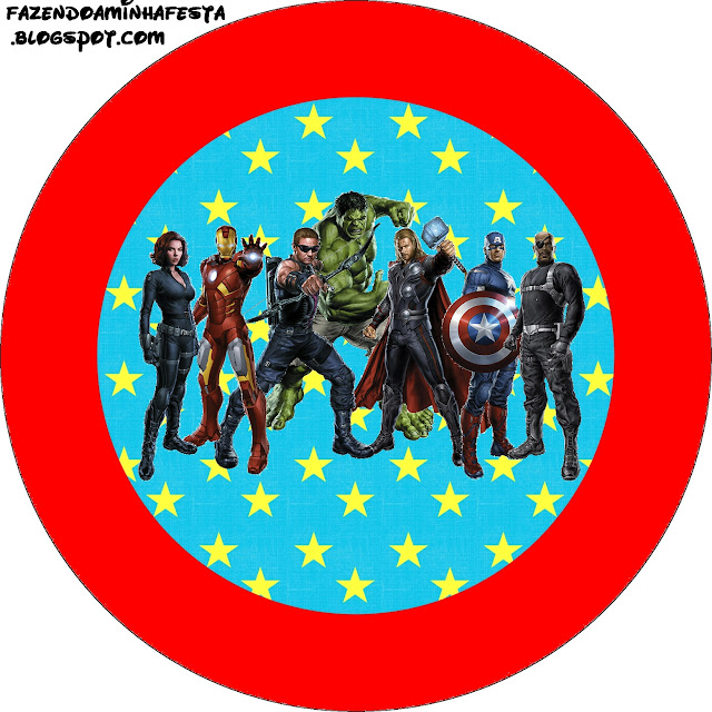 Avengers Free Printable Toppers.