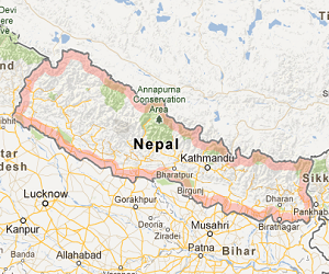 nepal_google_satellite_map