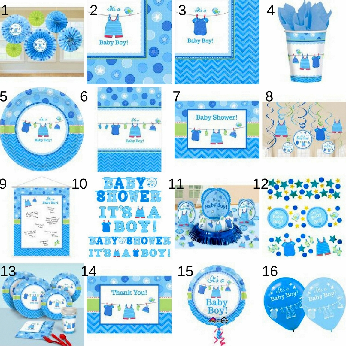 Southern Blue Celebrations: BOY BABY SHOWER PARTY SUPPLIES