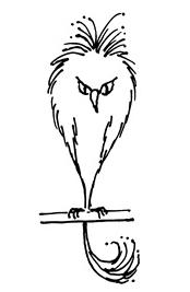 """Un esemplare di Fwooper, illustrazione dal libro """"Animali Fantastici: dove trovarli"""""""