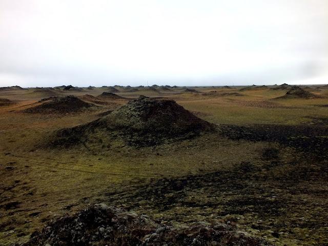 pseudo cráteres en Islandia