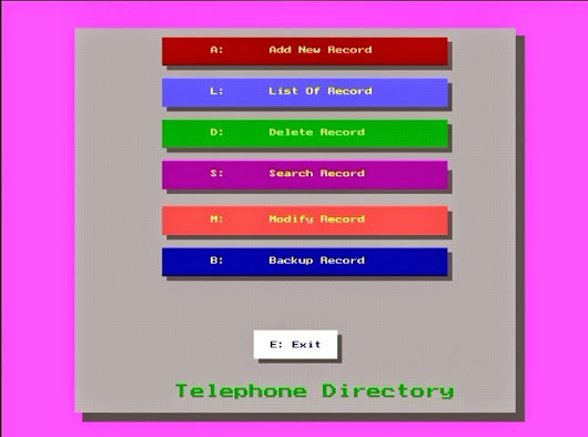 Mini Project Using C language(Telephone Directory using graphics)
