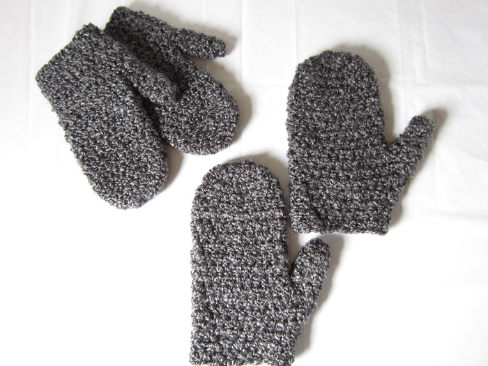 free pattern, crochet, mittens, Lion Brand, Homespun
