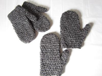 free pattern, crochet, mittens, Lion Brand, Homespun