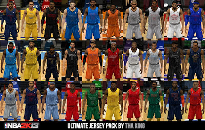 NBA 2K13 Ultimate Jersey Mod Pack (All Teams)