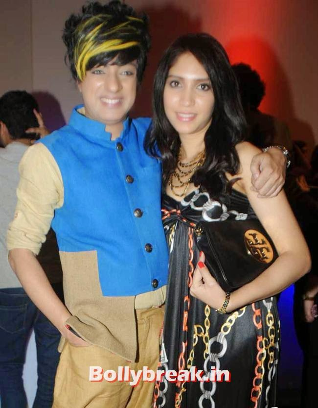 Designer Rohit Verma with model Radhika Nanda