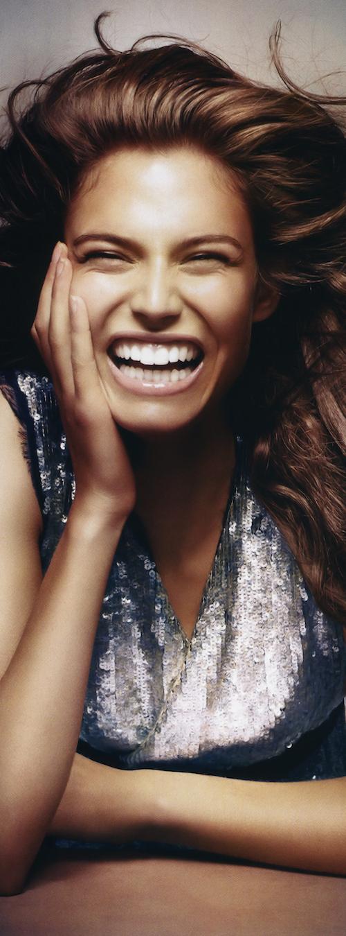 A smiling BIANCA BALTI