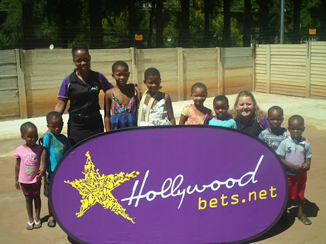 Hollywoodbets Pretoria team with children at Sunnyside Orphanage
