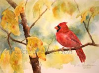 Autumn Birds Note Cards
