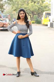 Telugu Actress Roshini Prakash Stills Short Dress at Saptagiri Express Release Press Meet  0236.JPG