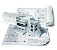 Bir kağıt ev planı üzerindeki 3D ev veya villa maketi